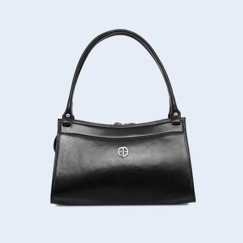 Women's leather handbag - ADAM BARON Home 06 black