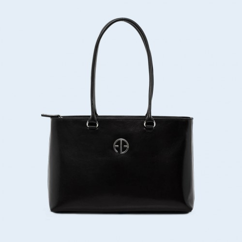 Leather women's handbag - ADAM BARON Home 03 black