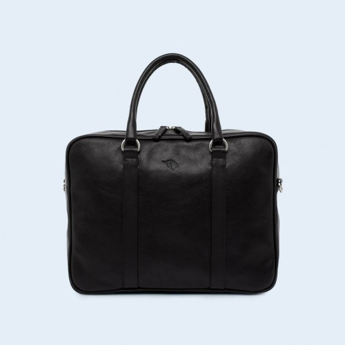 Leather business briefcase- Nonconformist Uno black