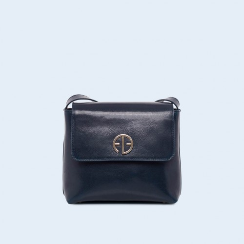 Women's leather bag - ADAM BARON Home 02 navy blue