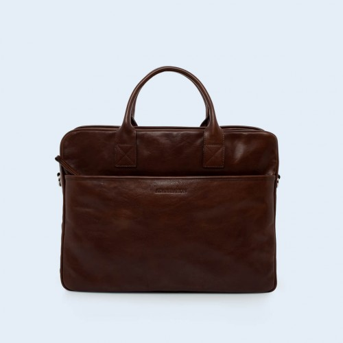 Leather business briefcase- Nonconformist Tre brown