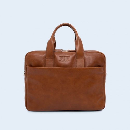 Leather business briefcase- Nonconformist Sharp2 Bag cognac
