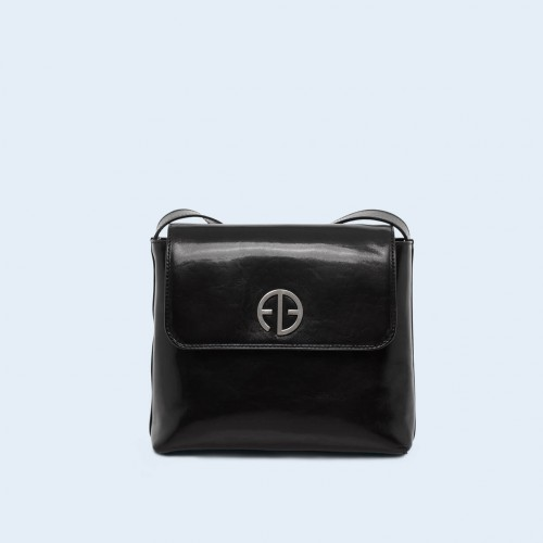 Leather women's handbag - ADAM BARON Home 02 black