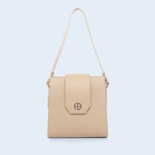 Leather bag - Verity Raw beige