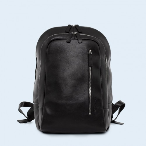 Leather backpack - Verity backpack black