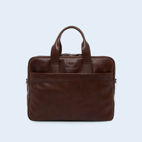 Leather business briefcase- Nonconformist Sharp1 Bag brown