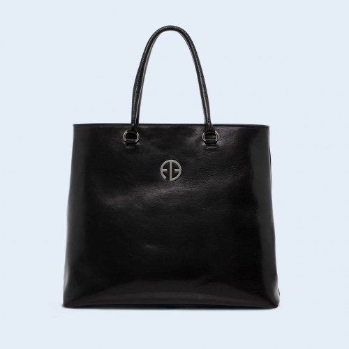 Leather women's handbag - ADAM BARON Home 04 black