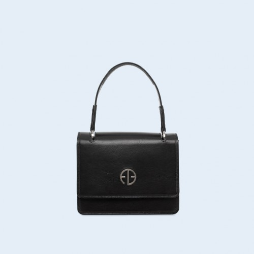 Leather handbag - Fussy handbag black