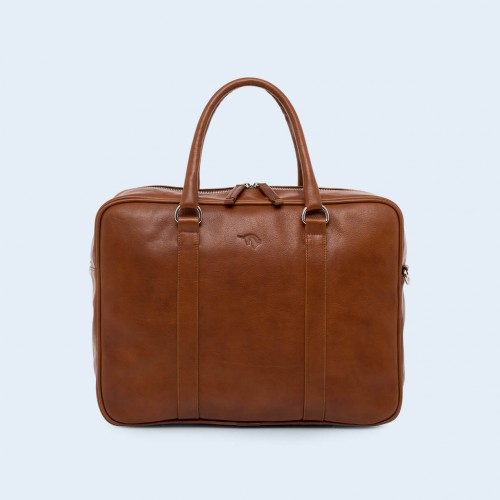 Leather business briefcase- Nonconformist Uno cognac