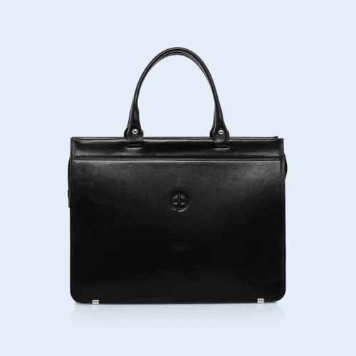Women's leather briefcase  - Verity Business 02 black