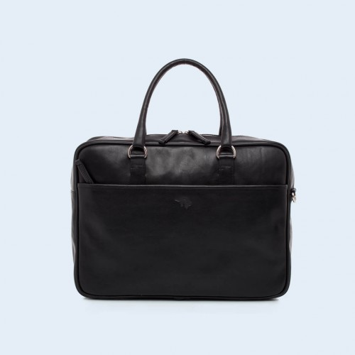 Leather business briefcase- Nonconformist Due black