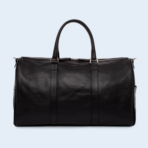 Leather travel bag - Nonconformist Travel black
