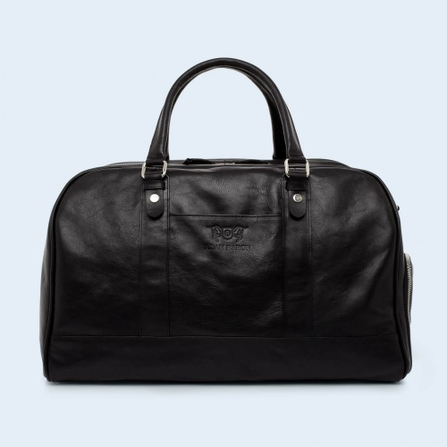 Leather travel bag - Verity Weekend black