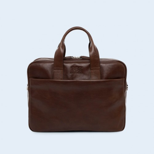 Leather business briefcase- Nonconformist Sharp2 Bag brown
