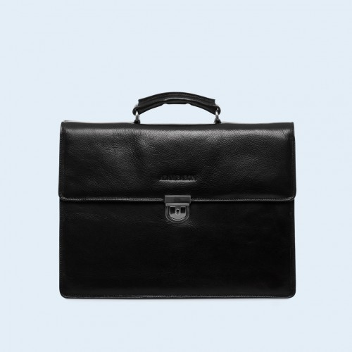 Leather briefcase - Aware Executive briefcase black