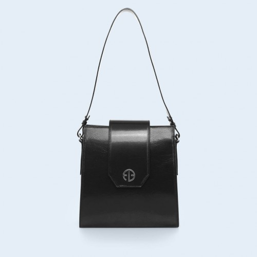 Leather bag - Verity Raw black