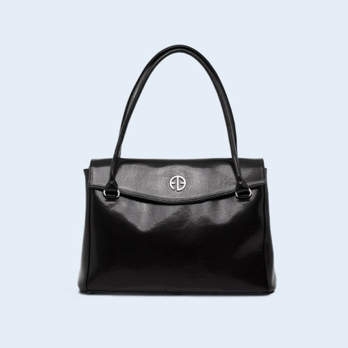 Leather women's handbag - ADAM BARON Home 01 midi black