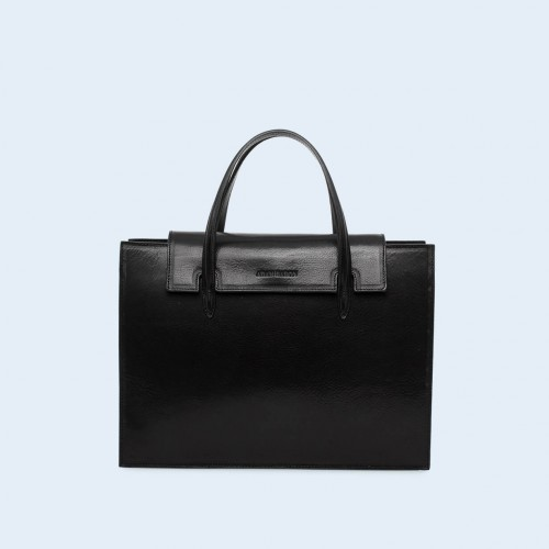 Leather women's handbag - ADAM BARON Home 05 black