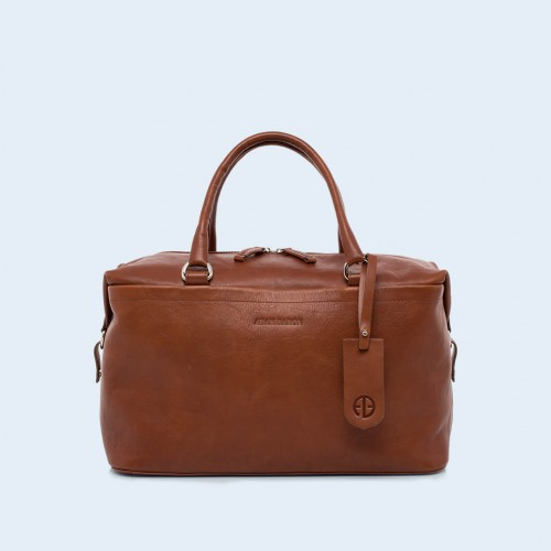 Leather medical bag - Verity Two Function medium cognac