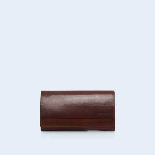 Clutch bag - Verity Night chestnut brown