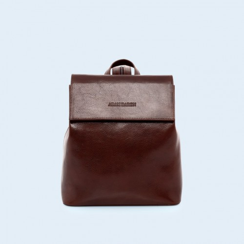 Leather backpack - Aware backpack chestnut brown