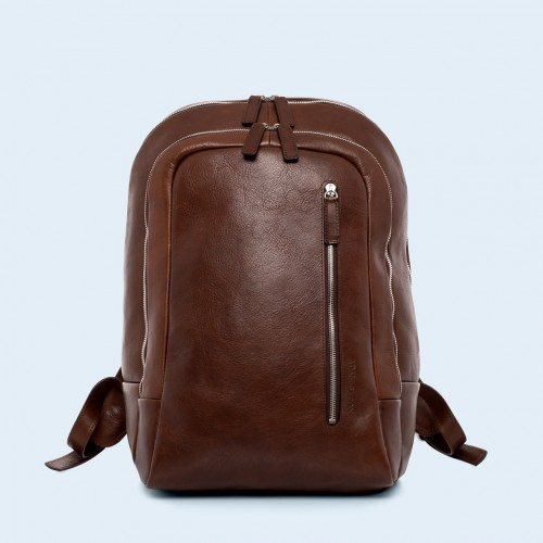 Leather backpack - Verity backpack brown