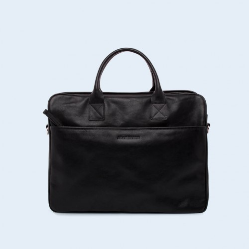 Leather business briefcase- Nonconformist Tre black