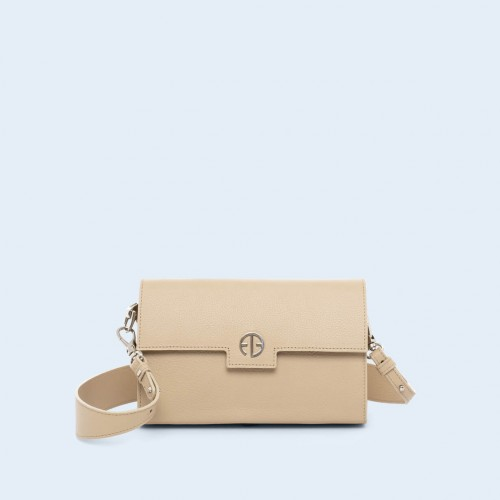 Leather bag - Verity mini crossbody beige