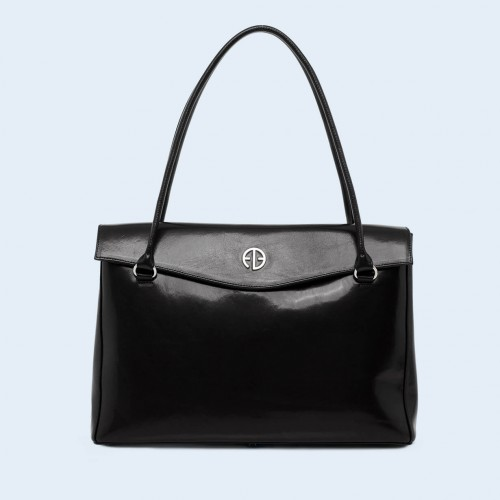 Leather  handbag - ADAM BARON Home 01 large black