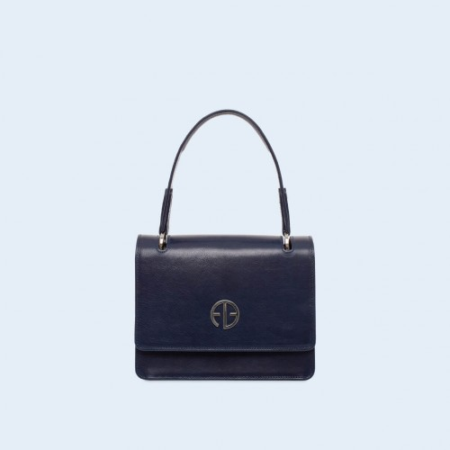 Leather handbag - Fussy handbag navy blue