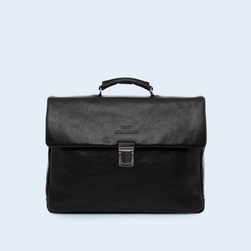 Leather business bag- Verity Executive black