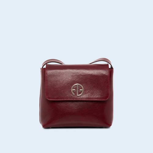 Women's leather bag - ADAM BARON Home 02 burgundy