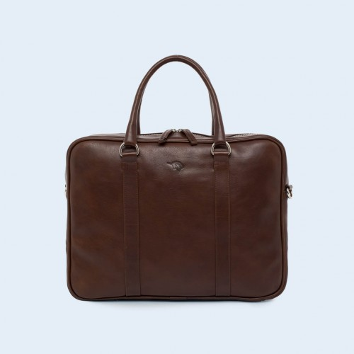 Leather business briefcase- Nonconformist Uno brown