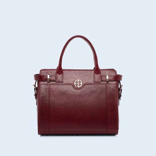 Women's shoulder and handbag - Verity Day medium burgundy