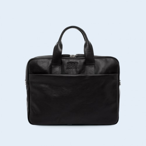 Leather business briefcase- Nonconformist Sharp2 Bag black
