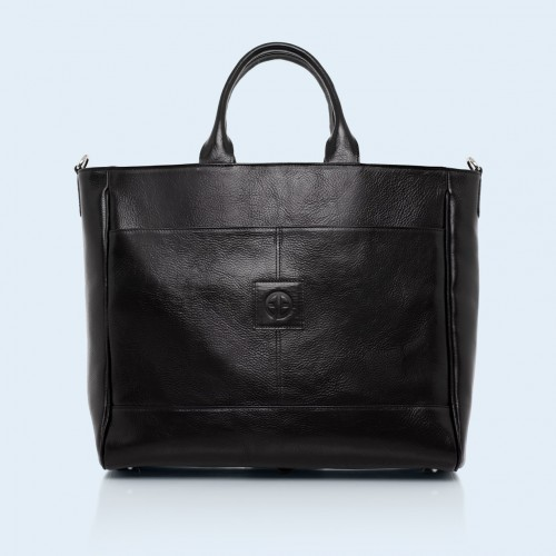 Roomy leather bag - Verity DayFull black
