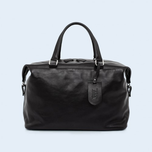 Leather travel bag - Verity Two Function big black