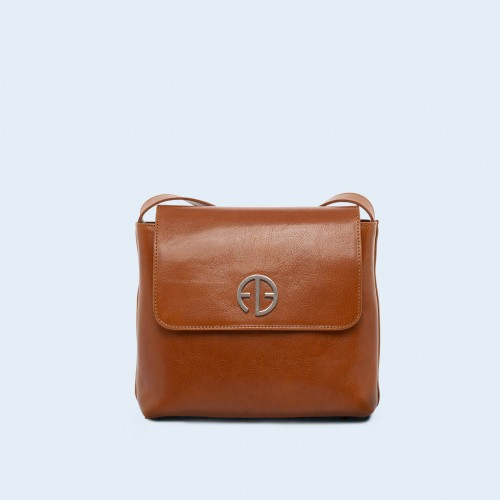 Leather women's handbag - ADAM BARON Home 02 camel