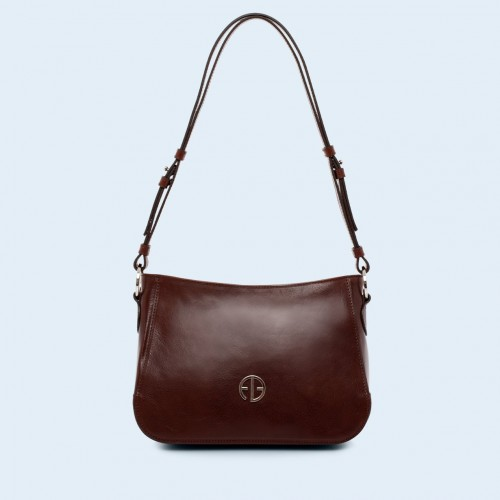 Aware shoulder bag chestnut brown