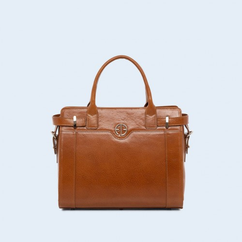 Women's shoulder and handbag - Verity Day medium camel