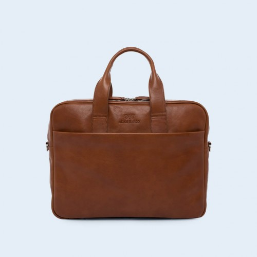 Leather business briefcase- Nonconformist Sharp1 Bag cognac