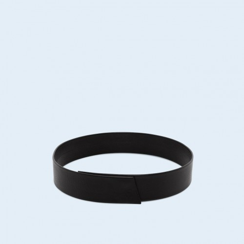 Leather belt - Verity belt black 75 cm