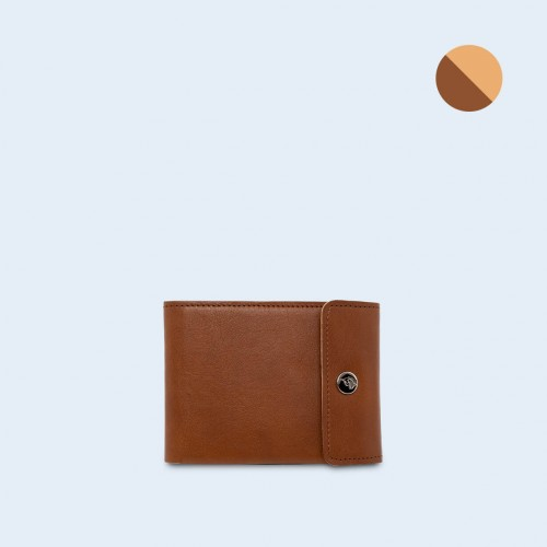 Men's leather wallet - SLOW Coin Wallet cognac/camel